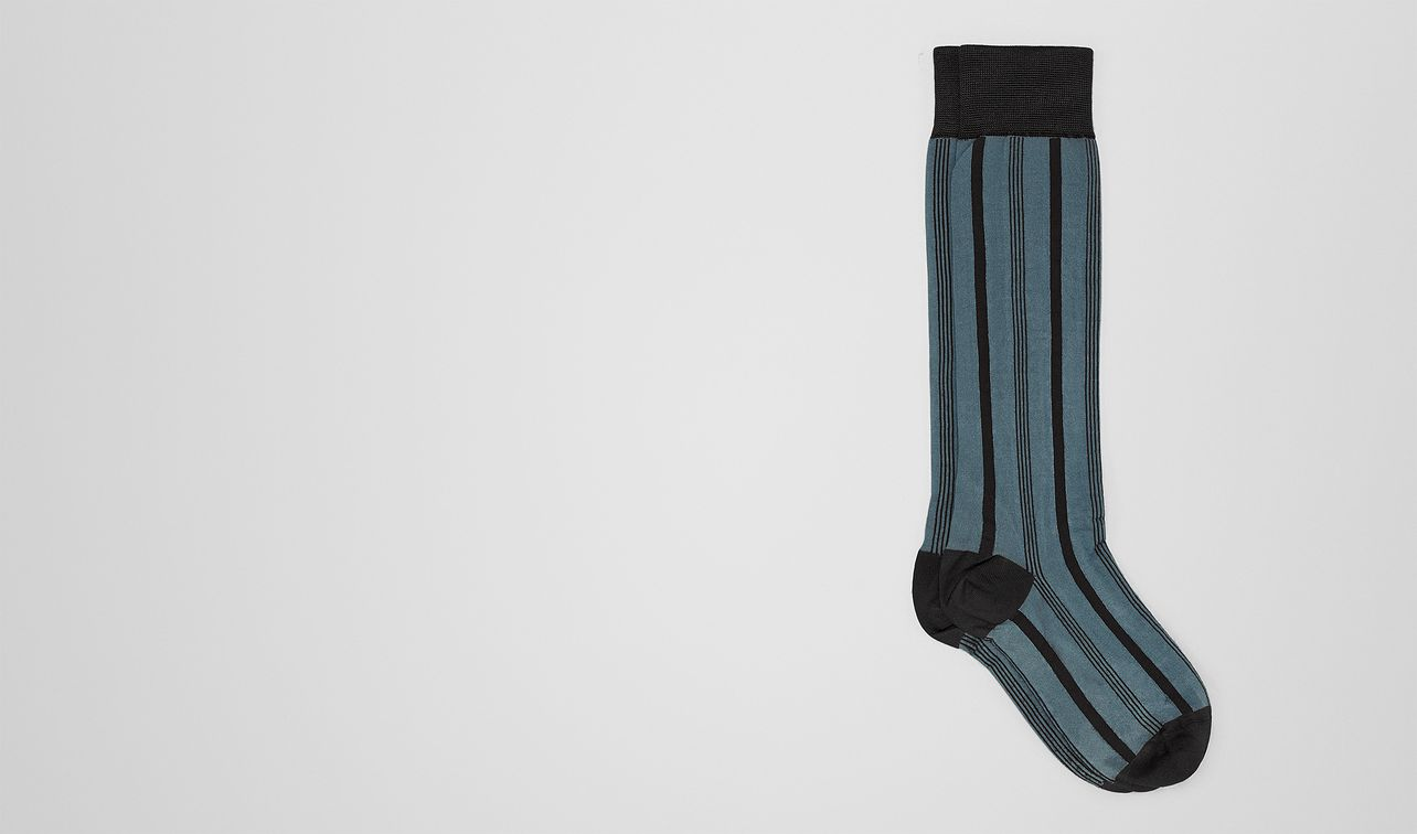 dark aqua silk sock landing