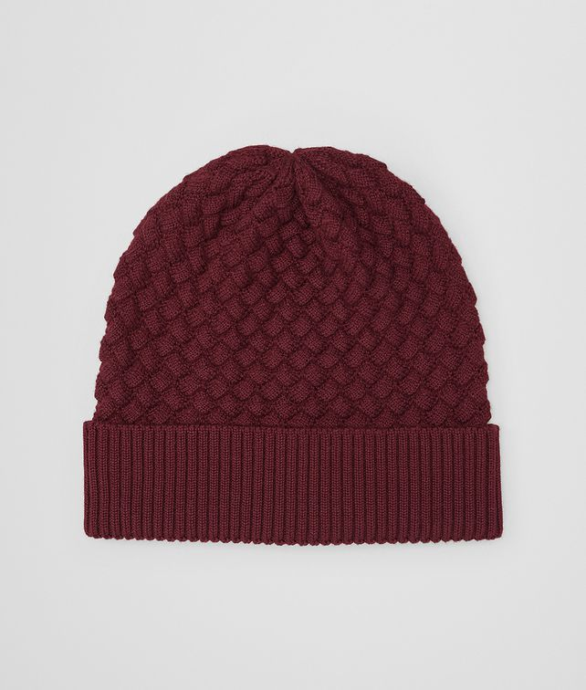 BOTTEGA VENETA AMARANTH WOOL HAT Scarves, Gloves & Others Man fp