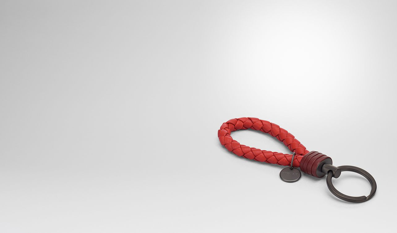 Bottega Veneta Knot Key Ring in Red AIaxxsx