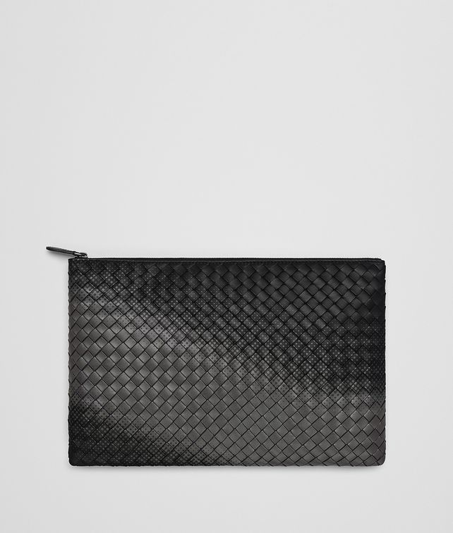 BOTTEGA VENETA NERO INTRECCIATO NAPPA GALAXY POUCH Other Leather Accessory E fp