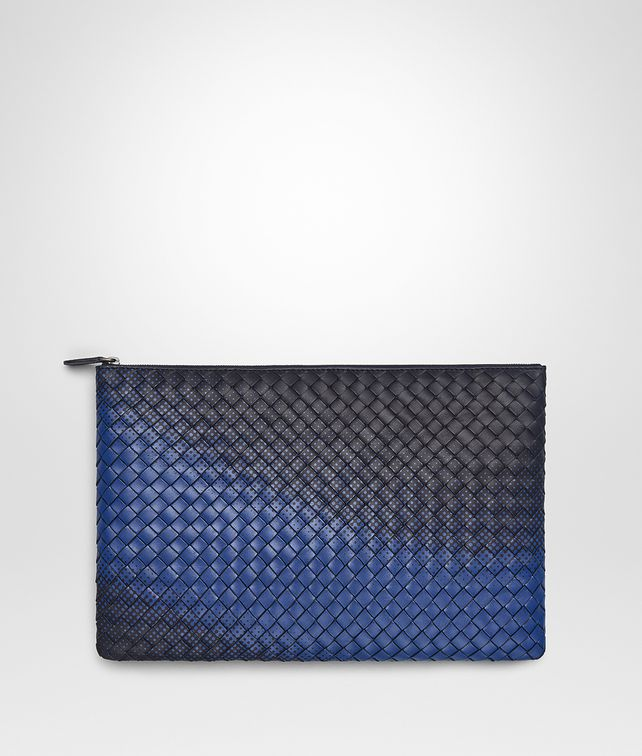 BOTTEGA VENETA TOURMALINE INTRECCIATO NAPPA GALAXY POUCH Other Accessories E fp