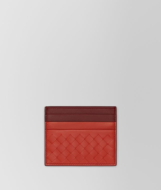 BOTTEGA VENETA TERRACOTTA INTRECCIATO NAPPA CARD CASE Card Case or Coin Purse E fp
