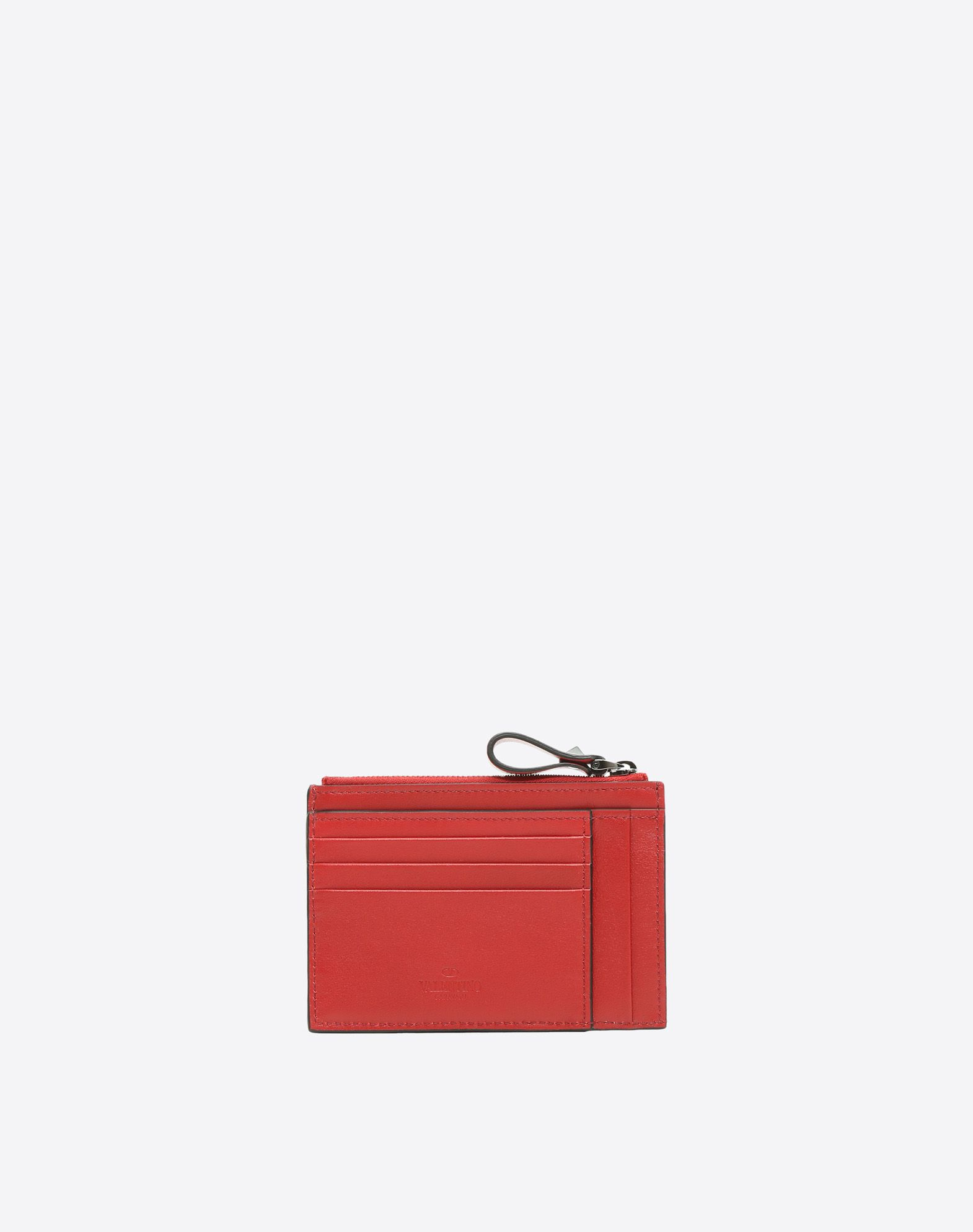 porte cartes porte monnaie rockstud valentino garavani uomo pour homme valentino boutique en ligne. Black Bedroom Furniture Sets. Home Design Ideas