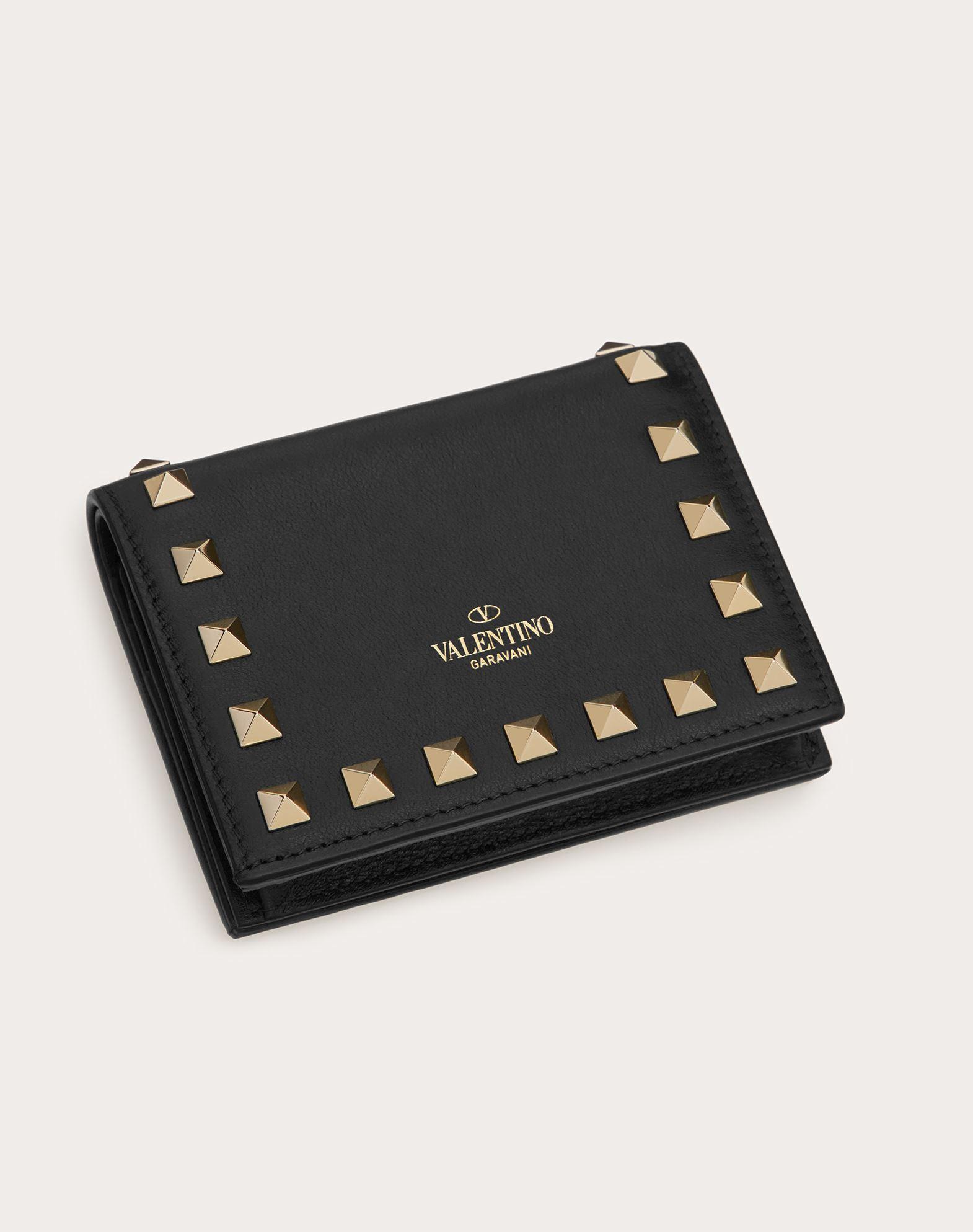 VALENTINO GARAVANI Compact Rockstud Wallet COMPACT WALLETS D d