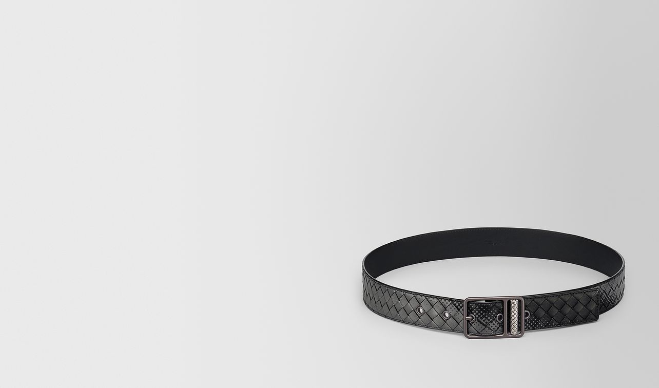 nero light grey intrecciato nappa belt landing