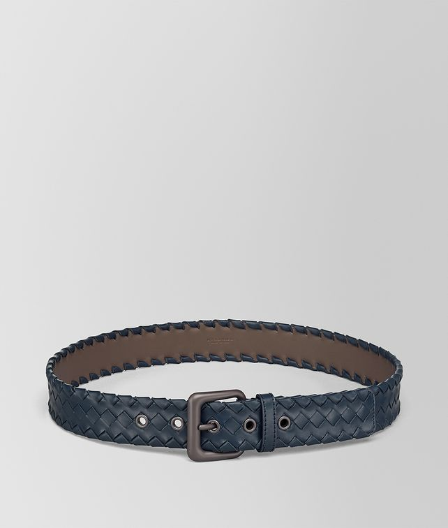 BOTTEGA VENETA DENIM INTRECCIATO CALF BELT Belt [*** pickupInStoreShippingNotGuaranteed_info ***] fp