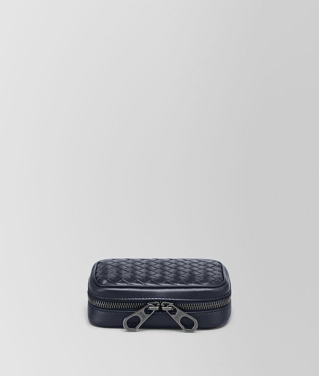 BOTTEGA VENETA CUFFLINK CASE IN INTRECCIATO VN Pouch Man fp