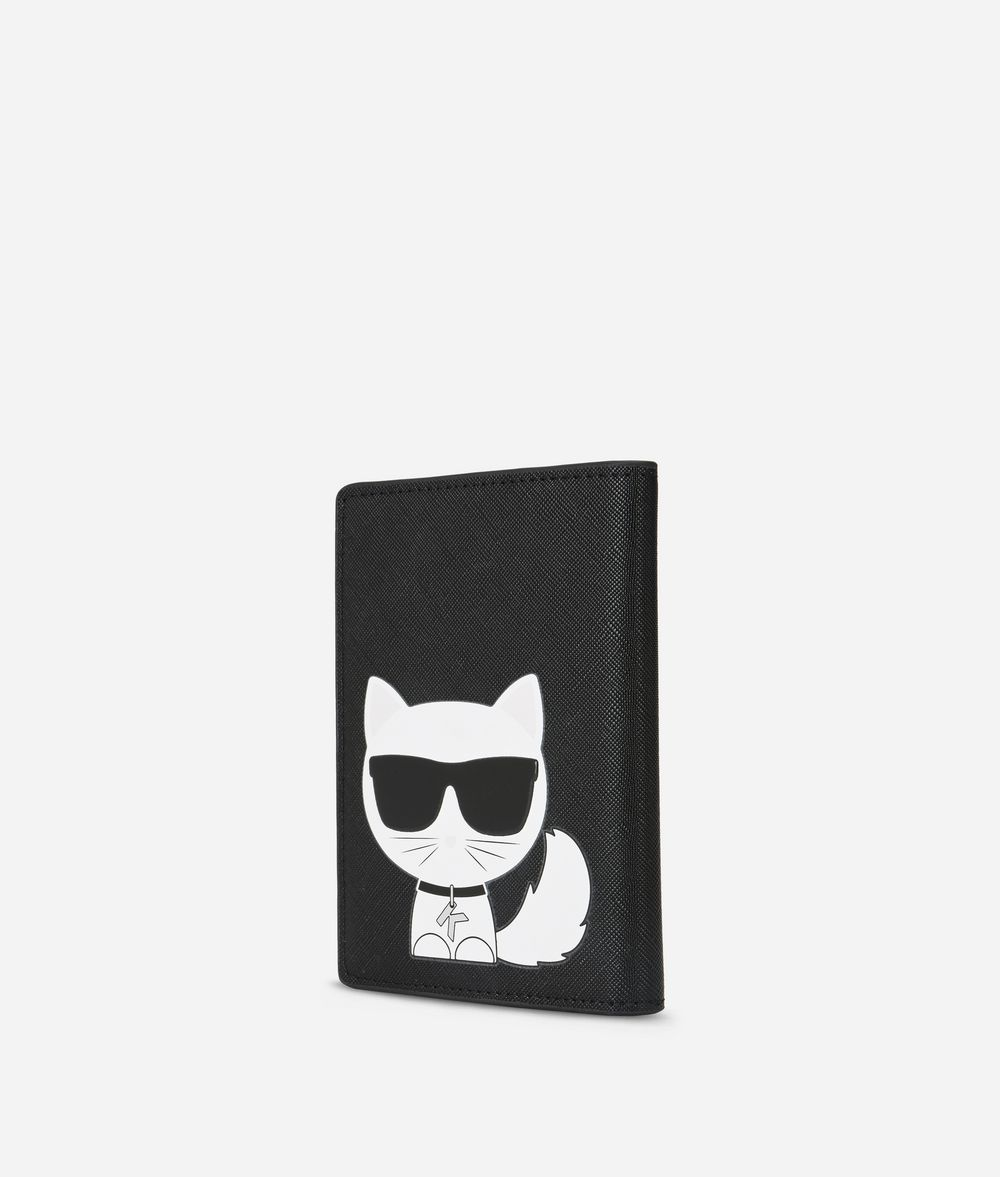 KARL LAGERFELD K/Ikonik Passport Holder Cardholder E d