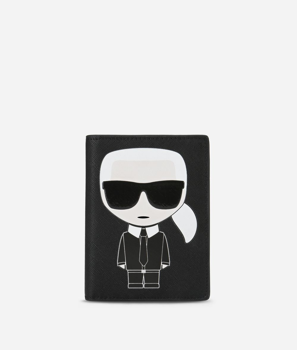 KARL LAGERFELD K/Ikonik Passport Holder Cardholder E f