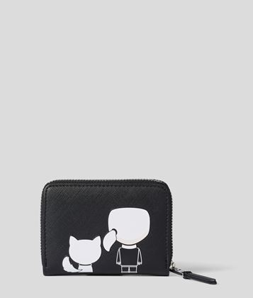 KARL LAGERFELD K/IKONIK SMALL ZIPPER WALLET