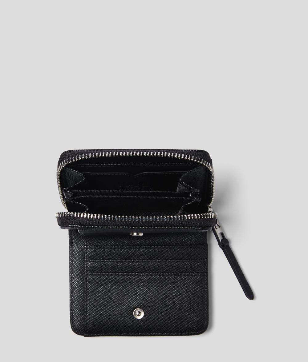 KARL LAGERFELD K/Ikonik portemonnaie zippé Portefeuille Femme d