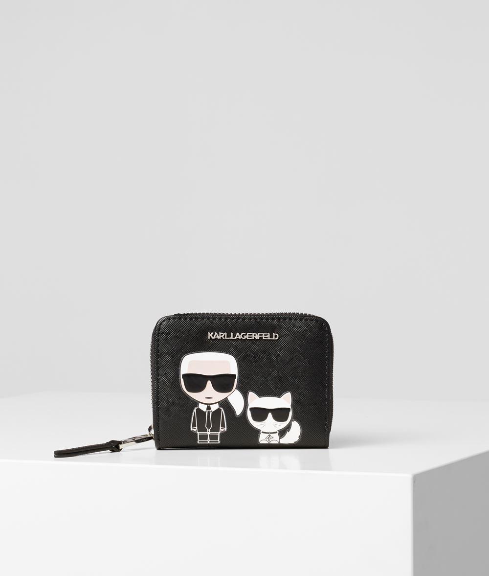 KARL LAGERFELD K/Ikonik portemonnaie zippé Portefeuille Femme f