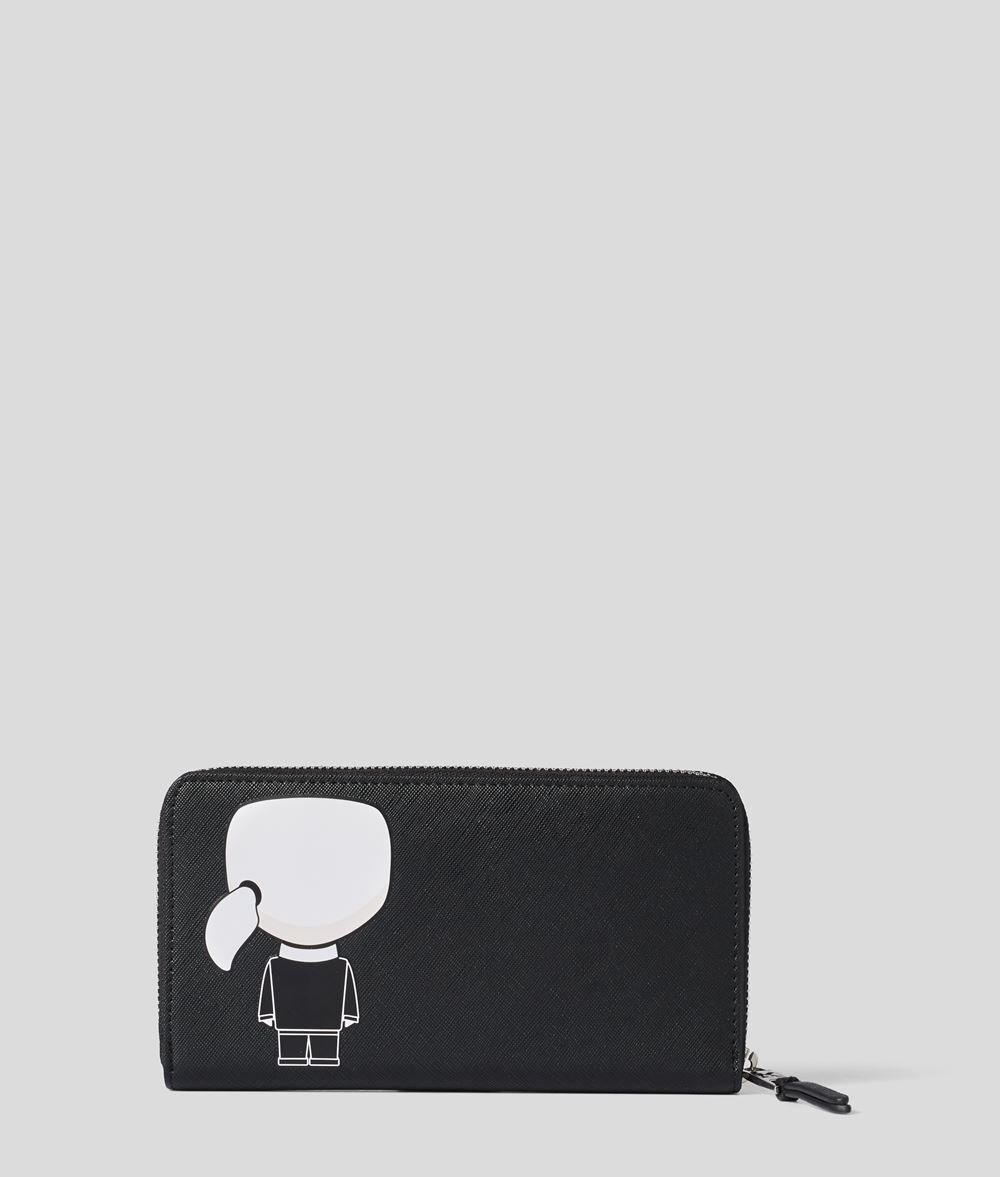 KARL LAGERFELD K/Ikonik Zipper Around Wallet Wallet Woman d