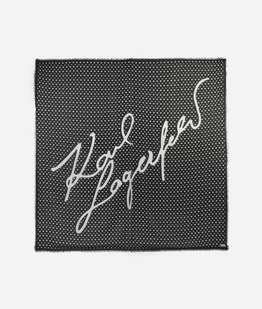 KARL LAGERFELD K/Signature Print Scarf 12_f