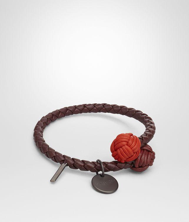 BOTTEGA VENETA DARK BAROLO INTRECCIATO NAPPA MULTICOLOR BRACELET Keyring or Bracelets E fp