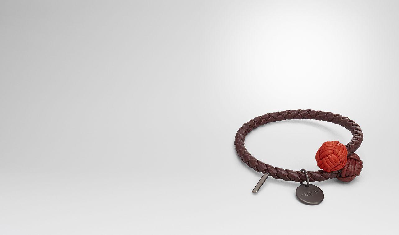 dark barolo intrecciato nappa multicolor bracelet landing