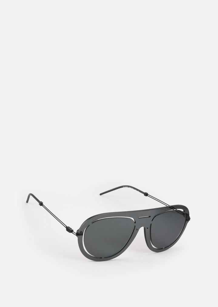 83b44996b5e3 Laser-cut shield sunglasses