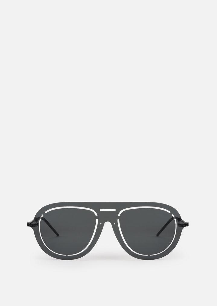 ... EMPORIO ARMANI Laser-cut shield sunglasses Sunglasses Man r ...