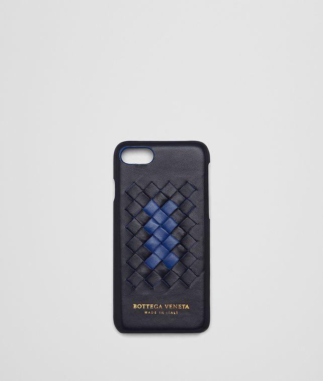 BOTTEGA VENETA トルマリン コバルトブルー イントレチャート ナッパ クラブ デュオ iPhone 7 ケース モバイルアクセサリー E fp