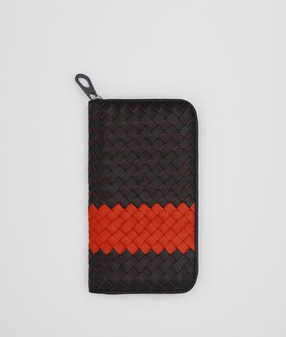 NERO TERRACOTTA INTRECCIATO NAPPA ZIP-AROUND WALLET