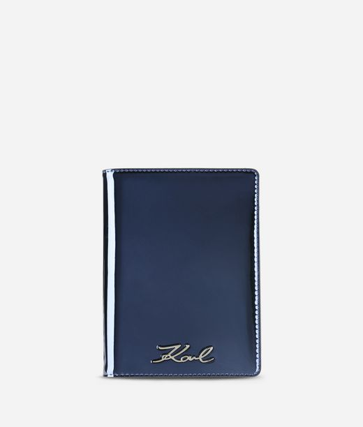 KARL LAGERFELD K/Signature Gloss Passport Holder 12_f