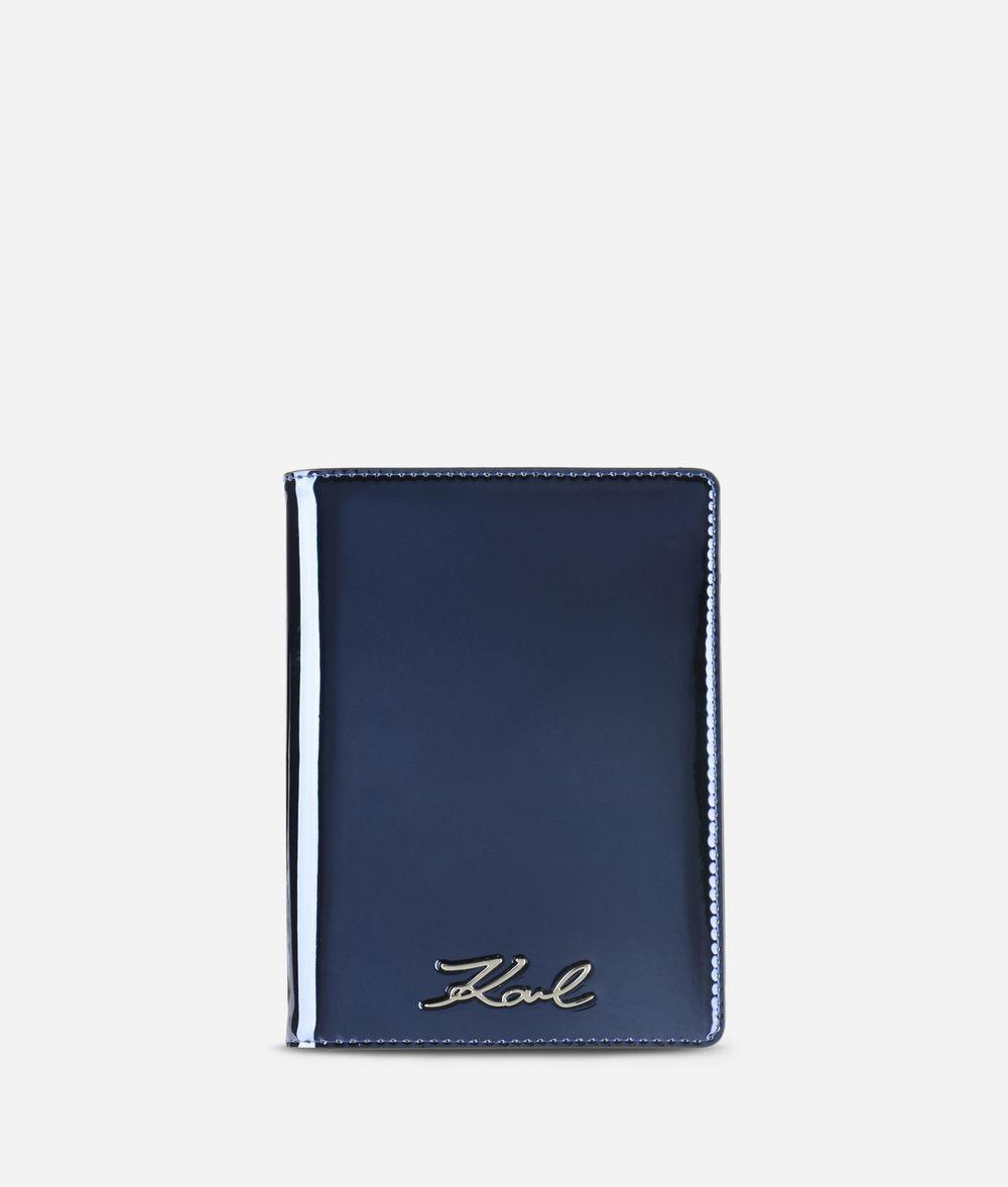 KARL LAGERFELD K/Signature Gloss Passport Holder Cardholder Woman f