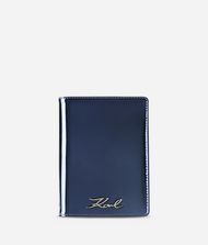 KARL LAGERFELD K/Signature Gloss Passport Holder 9_f