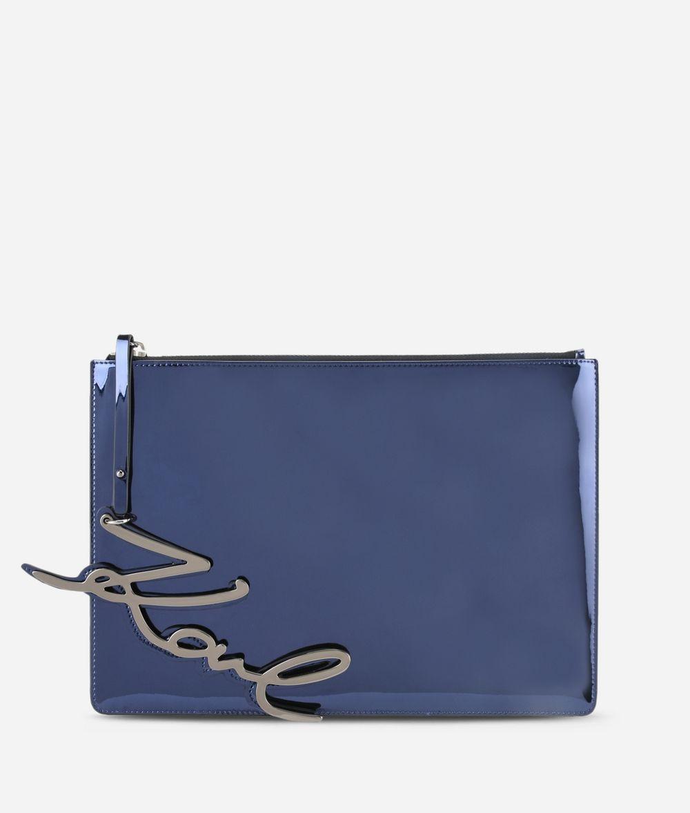 KARL LAGERFELD K/Signature Gloss Pouch Minaudière Woman f