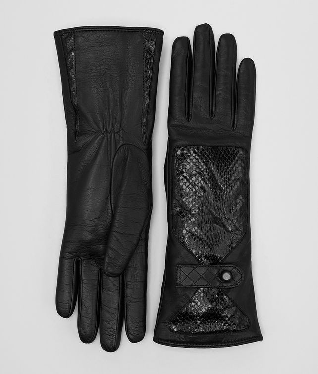 BOTTEGA VENETA NERO LAMB AYERS GLOVE Hat or gloves [*** pickupInStoreShipping_info ***] fp