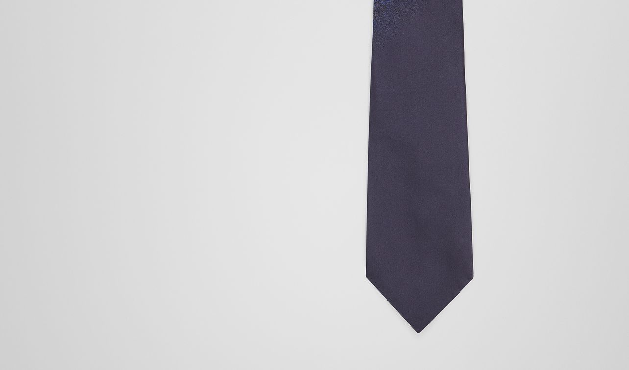 midnight blue silk tie landing