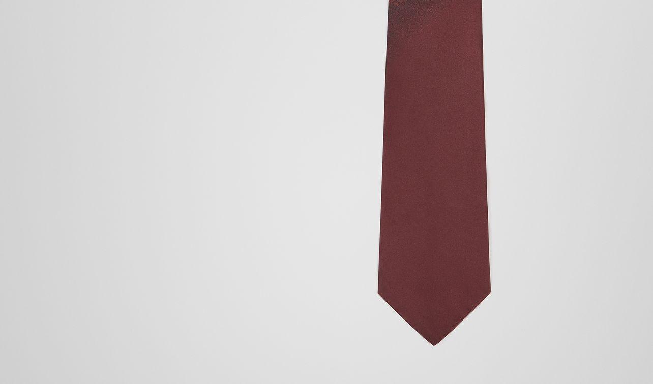 amaranth silk tie landing