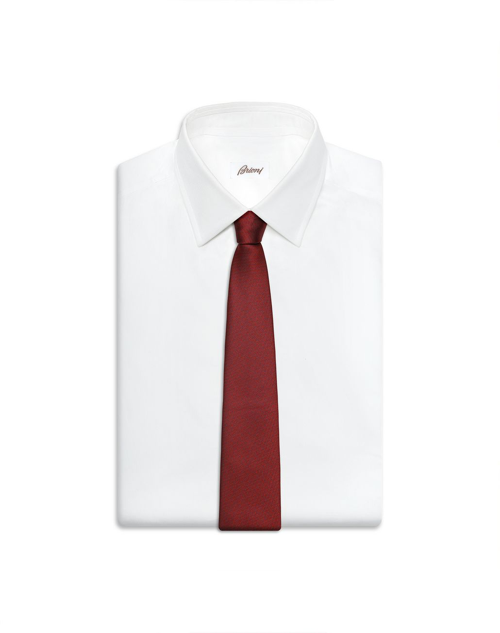BRIONI Red and Navy Blue micro-designed Tie Tie Man e