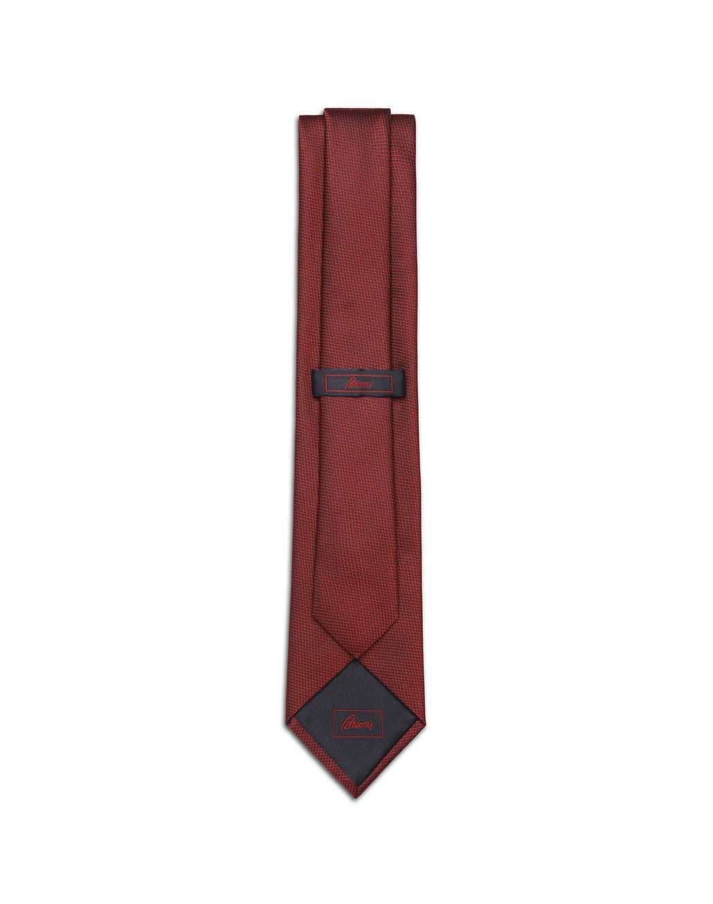 BRIONI Red and Navy-Blue Micro-Design Tie Tie Man r