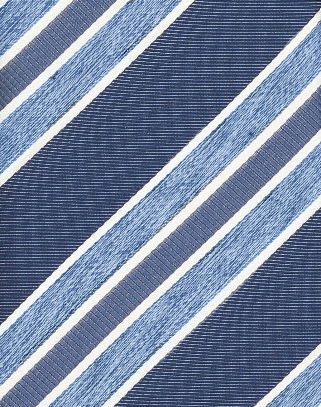 BRIONI Navy Blue and Sky Blue Regimental Tie Tie U d