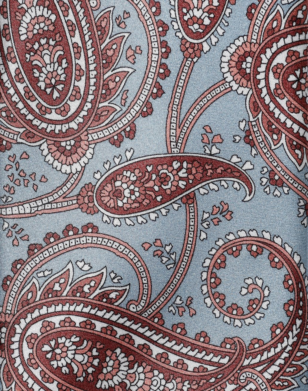 BRIONI Sky-Blue and Brown Paisley Tie Tie Man d