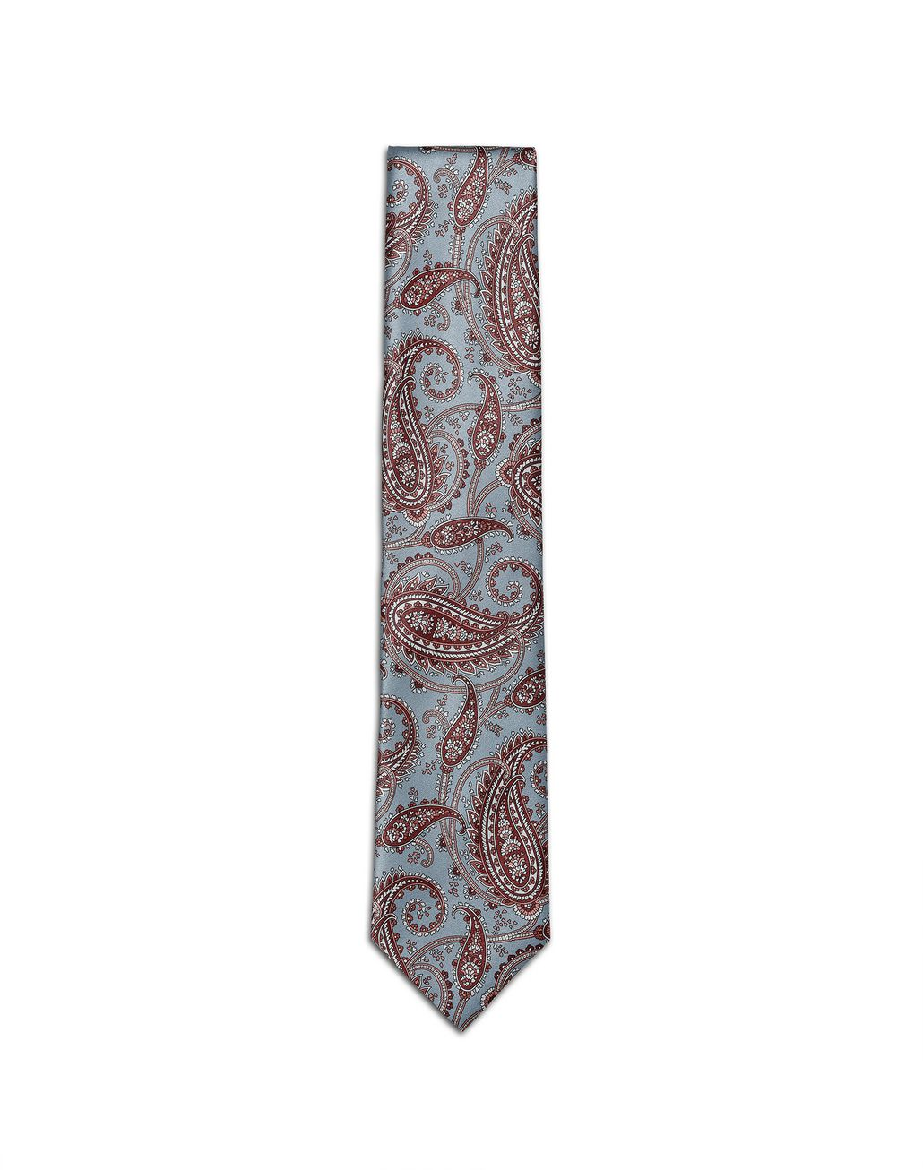 BRIONI Sky Blue and Brown Paisley Tie Tie Man f