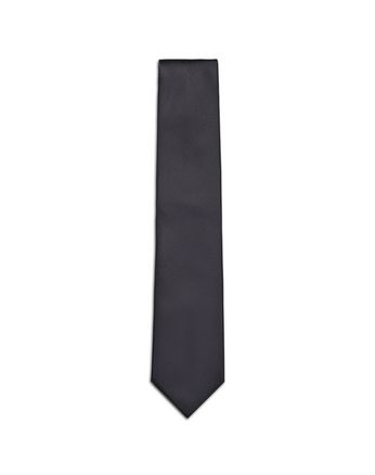 Navy Blue and Black Micro-Designed Tie