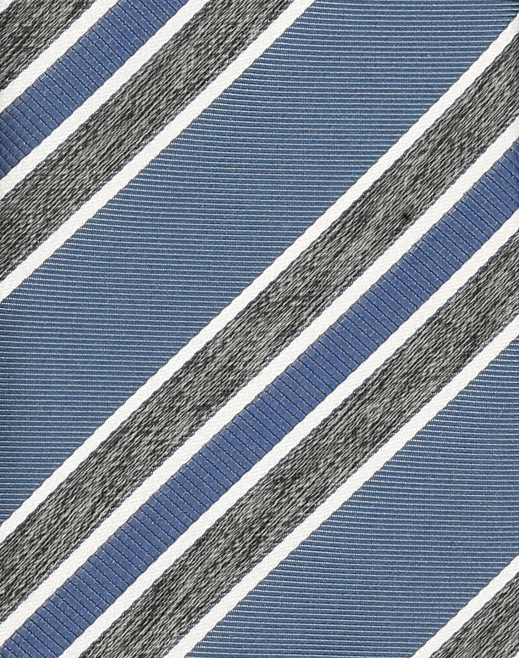 BRIONI Sky Blue and Grey Regimental Tie Tie Man d