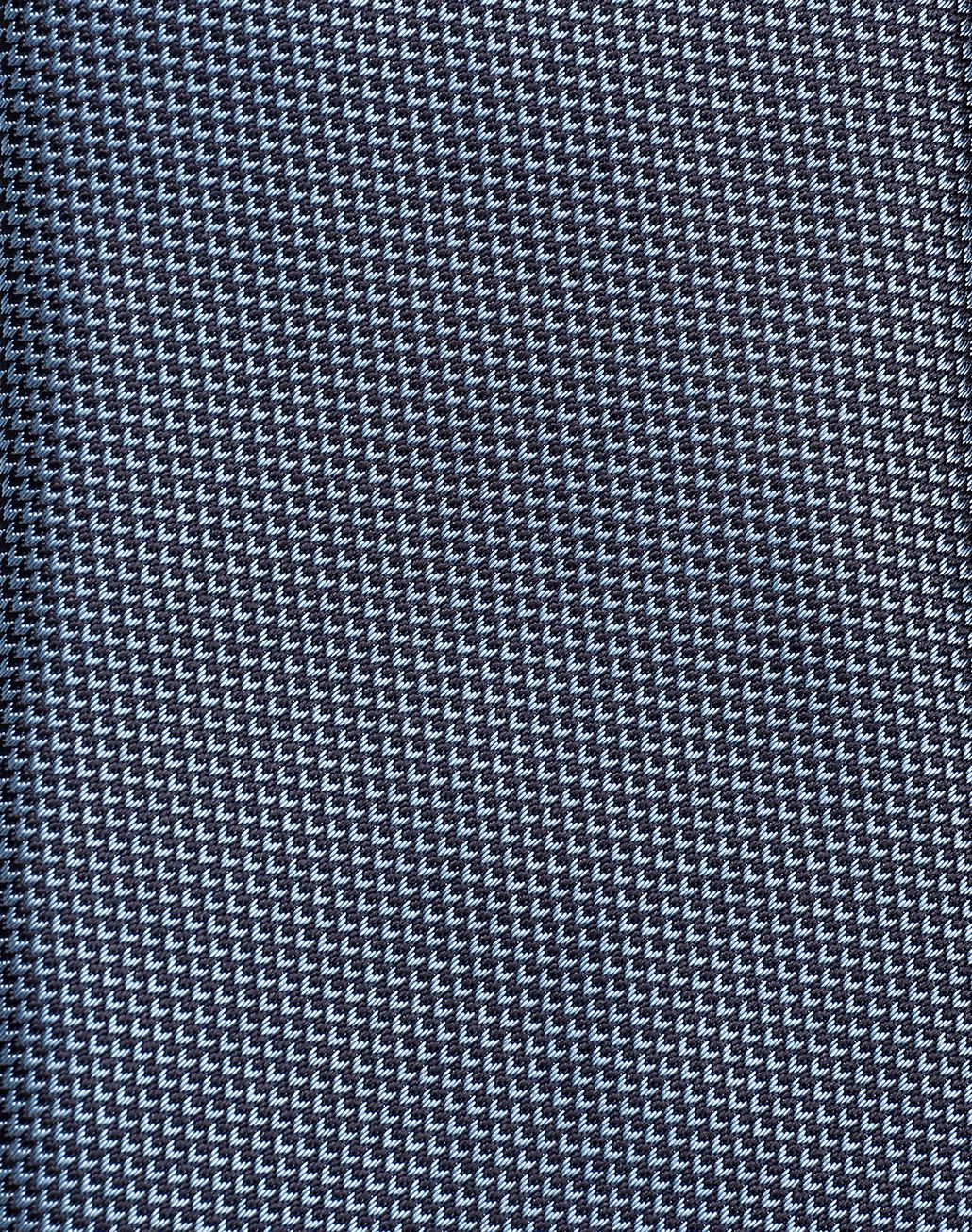 BRIONI Sky-Blue and Navy-Blue Micro-Design Tie Tie Man d