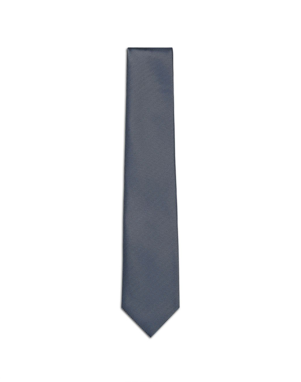 BRIONI Sky-Blue and Navy-Blue Micro-Design Tie Tie [*** pickupInStoreShippingNotGuaranteed_info ***] f