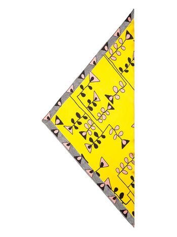 Marni Silk scarf yellow Woman