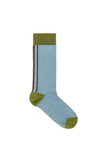 Marni Ankle sock in blue cotton Woman