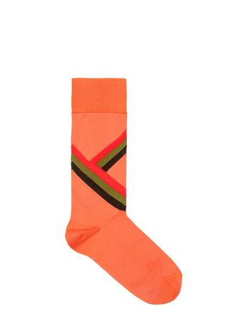 Marni Sock in cotton and nylon jacquard pink Woman