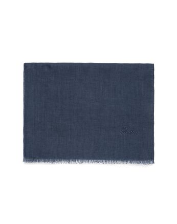 Foulard Blu Navy in Lino