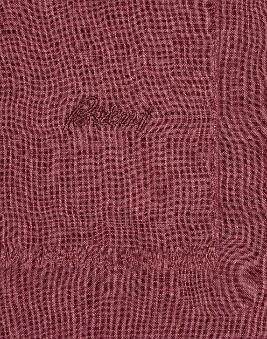 BRIONI Бордовый льняной шарф Шарф Для Мужчин d