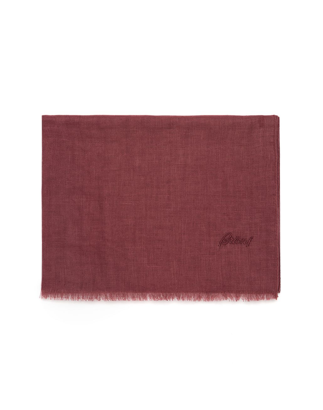 BRIONI Bordeaux Linen Scarf Foulards & Scarves [*** pickupInStoreShippingNotGuaranteed_info ***] f