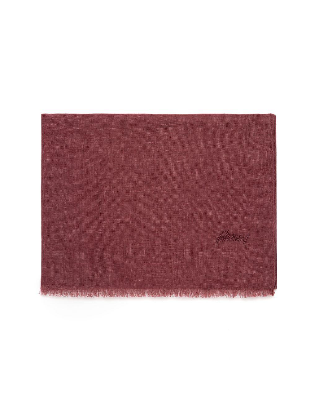 BRIONI Бордовый льняной шарф Шарф Для Мужчин f