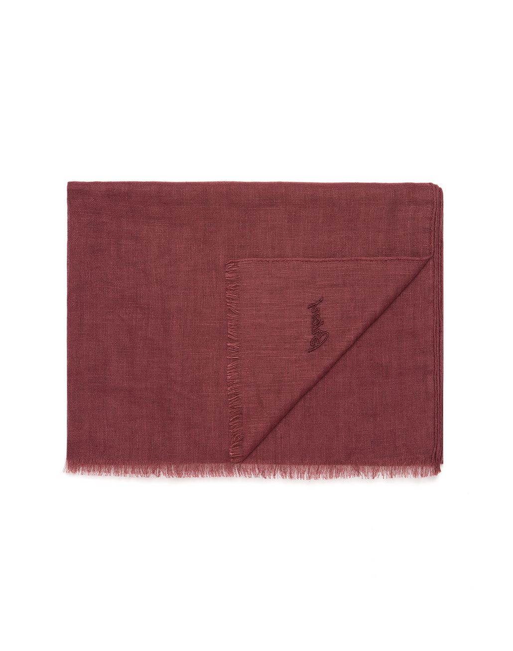 BRIONI Bordeaux Linen Scarf Foulards & Scarves [*** pickupInStoreShippingNotGuaranteed_info ***] r