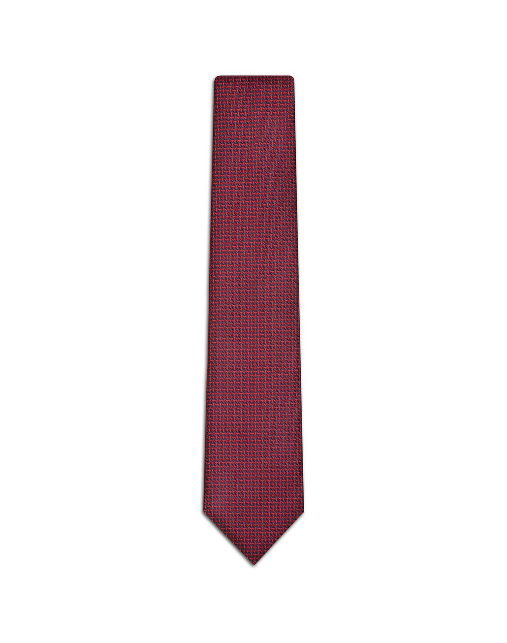 BRIONI Red and Blue Navy Micro-Design Tie Tie U f