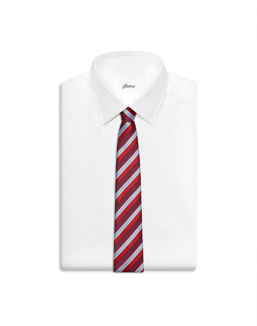 BRIONI Red Regimental Tie Tie Man e